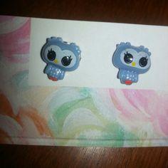 Cutie Owl Post Earrings by FrankieBeanz on Etsy, $3.99