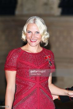 Crown Princess Mette Marit of Norway attends the Gala dinner for the wedding of Prince Guillaume Of Luxembourg and Stephanie de Lannoy at the Grand-ducal Palace on October 19, 2012 in Luxembourg, Luxembourg. The 30-year-old hereditary Grand Duke of Luxembourg is the last hereditary Prince in Europe to get married, marrying his 28-year old Belgian Countess bride in a lavish 2-day ceremony.  (Photo by Andreas Rentz/Getty Images)