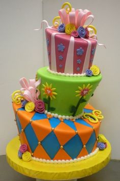 Topsy-Turvy Cake