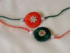 how to make silk thread Rakhi at home in 5 minutes Easy Paper Crafts, Cute Crafts, Creative Crafts, Diy Paper, Diy Crafts, Thread Jewellery, Paper Jewelry, Quilling Rakhi, Happy Raksha Bandhan Wishes