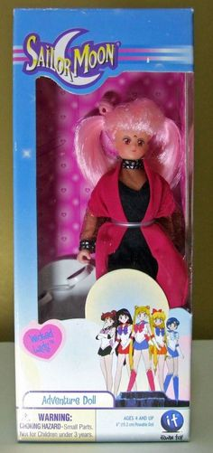 "Wicked Lady Sailor Moon 6"" adventure doll vintage Irwin Chibimoon Minimoon…"