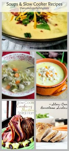 Soups and Slow Cooker Recipes www.thenymelrosefamily.com #slowcooker #crockpot