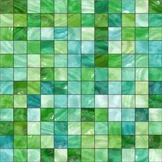 Grön glasmosaik