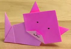 "Blog Mundo FiLi: Papiroflexia para niños. ""Gatito"""