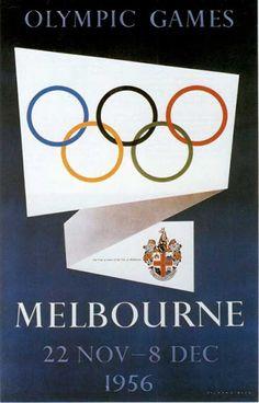 Affiche Jeux Olympiques Melbourne (1956)