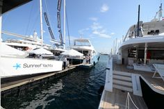 The Sunreef Yachts stand at the Cannes Yachting Festival 2014