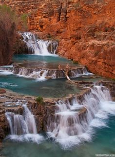 Wonderful Blue Water, Havasupai Indian Reservation, Arizona- Neat! I wouldn't have guessed something like this would be in AZ.