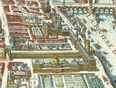 .. des tuileries, du jardin et de la Seine (plan dit de Mérian, 1615