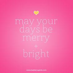 MERRY and BRIGHT, holidays, festive season.