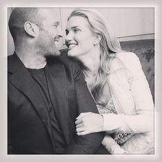 Jason Statham and Rosie Huntington-Whitely