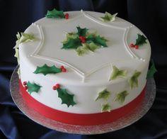 xmas cake. Kerst cake. Christmas.