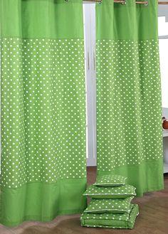 Homescapes Kindervorhang Junge Kinderzimmer Ösenvorhang Dekoschal Stars 2er Set grün 117 x 137 cm (Breite x Länge je Vorhang) 100% reine Baumwolle: Amazon.de: Küche & Haushalt