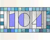 104 House numbers transom house numbers 104 stained glass window pattern [0]$2.00 | PDQ Patterns