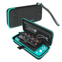 Carry Case for Nintendo Switch Lite, OIVO Durable Hard Shell Carrying Case Pouch for Nintendo Switch Lite Console with 16 Games Storage- Large Capacity (Turquoise) Nintendo Switch System, Nintendo Switch Case, Izuku Midoriya Cosplay, Lego Custom Minifigures, Nintendo Switch Accessories, Game Storage, Music Items, Classic Board Games, Mode Blog
