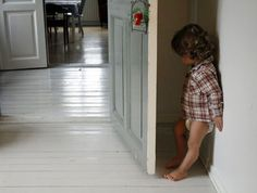 The Beauty of White Painted Hardwood Floors - Life on Hill St White Painted Wood Floors, Native American Wisdom, Interior Trim, Interior Ideas, Hiding Places, Vintage Coat, Kid Styles, Family Kids, Cool Baby Stuff