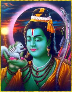 """☀ SHRI RAMACHANDRA ॐ ☀""""O Lord, You are the Supreme Personality of Godhead, who have accepted the brahmanas as Your worshipable deity. Your knowledge and memory are never disturbed by anxiety. You are the chief of all famous persons within this world, and Your lotus feet are worshiped by sages who are beyond the jurisdiction of punishment. O Lord Ramachandra, let us offer our respectful obeisances unto You.""""~Srimad Bhagavatam 9.11.7"""