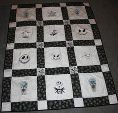 Nightmare Before Christmas Lap Quilt by MyQuiltedCreations on Etsy