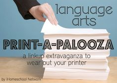 Free Language Arts Printables #homeschool