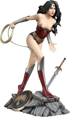 "Wonder Woman Statue Product Details Expected to Ship Sep 2015 - Nov 2015 License DC Comics Scale Statue Manufacturer Yamato USA Product Size 12.2"" H (309.88mm)* Tabletop View » Dimensional Weight TBD Int'l Dim. Weight TBD Product Sku 902485 UPC 6 93904 350892 ®... #{T.R.L.}"