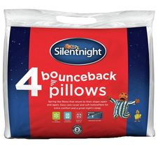 Buy Silentnight Bounce Back 4 Pack of Pillows at Argos.co.uk - Your Online Shop for Pillows, Bedding, Home and garden.