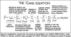 Flake Equation: Calulates number of alien encounters