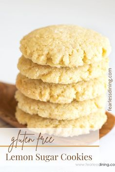If you love cookies and lemon flavors, wait until you try these delicious Gluten Free Lemon Sugar Cookies. They are pure cookie perfection! Make drop cookie style, or make a log and slice and bake! I include a dairy-free option as well. www.fearlessdining.com Best Gluten Free Cookie Recipe, Gluten Free Recipes, Lemon Sugar Cookies, Dairy Free Options, Drop Cookies, Food To Make, Easy Meals, Style, Swag