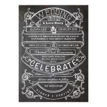 chalkboard invitation   ♥  Repinned by Annie @ www.perfectpostage.com
