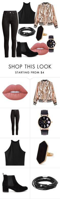 """""""Untitled #380"""" by vickyagh on Polyvore featuring Lime Crime, Sans Souci, Chicnova Fashion, Jaeger and Skagen"""
