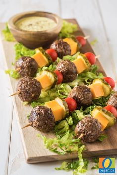 This recipe combines kabobs and cheeseburgers, two summer grilling staples! Pro Tip: When grilling the meatballs, wait until they are fully seared on the grill so they are easier to flip!