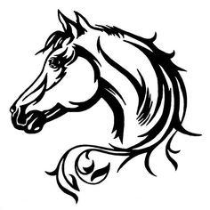 autocollant voiture motif cheval
