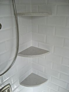 Hallway Bath Renovation budget hallway bathroom remodel, bathroom ideas, design d cor, Marble lookalike corner shelves in shower easy to clean and maintain Shower Corner Shelf, Shower Shelves, Corner Shelf Design, Corner Shelves, Bad Inspiration, Bathroom Inspiration, Small Shower Remodel, Remodel Bathroom, Ideas Baños