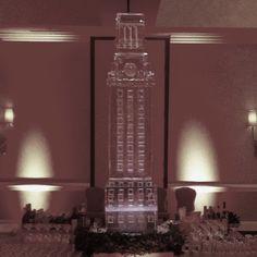 University of Texas UT Tower.  6' Tall ice sculpture.