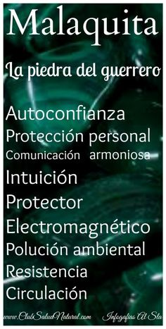 La Malaquita Curiosidades de la Piedra Mineral - Club Salud Natural #minerales #salud