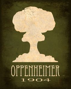 12x18 Science Art Print Oppenheimer Atomic Bomb Mushroom Cloud Explosion Steampunk Rock Star Scientist Geek Nerd Decor Scientific Poster