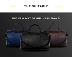 The SUITABLE blends all features of a suit bag with the style of a handmade weekender bag in one carry-on sized piece of luggage.