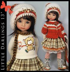 Orange Brown Amp Cream Outfit for Little Darlings Effner 13 034 by Maggie Amp Kate | eBay. SOLD at reduced BIN of $115.00 on 10/14/14