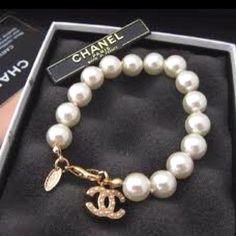 Chanel pearls.