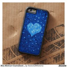 #Blue Abstract Crystallized #Heart #Protective Tough Xtreme #iPhone 6 Case #iphonecase