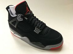 60f69ab7e50133 Nike Shoes · Air Jordan 4 Retro 2019 Bred Black Fire Red Cement Grey IN  STOCK NOW men s 10