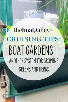 How to have a salad garden on a boat if you're a liveaboard. What type of container and soil and where to put them at anchor or dock and underway.