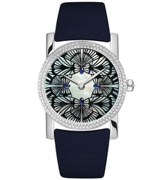 Chaumet Attrape-moi... si tu maimes Montre Precieuse rhodium-plated watch in white gold, set with 152 brilliant-cut diamonds (0.89ct) and one rose-cut diamond (0.10ct).