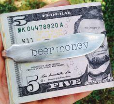 Hand stamped money clip