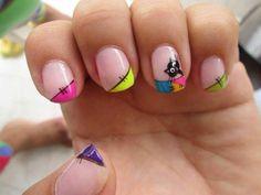 57 Ideas pedicure decorado nailart french tips for 2019 Manicure, Shellac Nails, Toe Nail Color, Nail Colors, Hot Nails, Hair And Nails, Glitter Pedicure, Funky Nail Art, Magic Nails