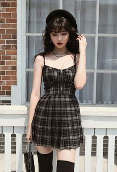 Gothic Outfits, Edgy Outfits, Cute Casual Outfits, Pretty Outfits, Dress Outfits, Black Outfits, Casual Gothic Fashion, Goth Girl Outfits, Cute Grunge Outfits