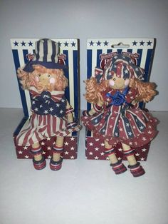 Two Collectable Patriotic Uncle Sam and Betsy Ross by RosiesHut, $25.00