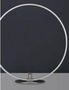 Lampe à poser design circulaire en nickel éclairage LED CIRCA