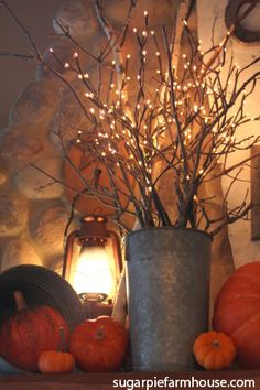 """10 Easy Fall Decorating Projects To Celebrate the Season: """"Age"""" a Galvanized Bucket. More Trulia Tips here: http://on.trulia.com/1qkopLp"""