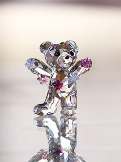 Swarovski Kris Bear, Flowers for You