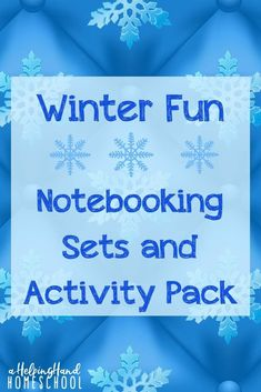 Tired of the winter doldrums? Let your kids have fun learning with the Winter Fun notebooking packs! Available for preschool through upper elementary. #winter #notebooking #elementary #homeschool Early Learning, Fun Learning, Learning Activities, Winter Activities, Christmas Activities, Winter Fun, Winter Time, Christian Parenting, Homeschool Blogs