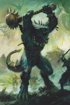 Day 156 Lizardmen a Day, Fantasy Warrior, Fantasy Rpg, Fantasy Artwork, Lizardmen Warhammer, Warhammer Fantasy Roleplay, Character Art, Character Design, By Any Means Necessary, Sword And Sorcery